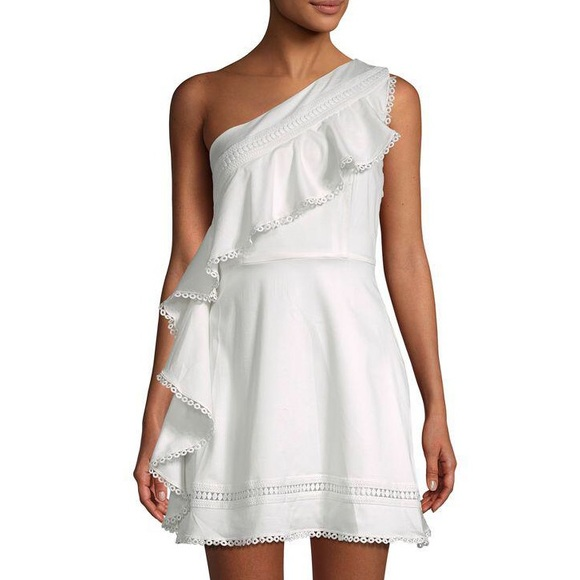721721489c RED CARTER | Nailah One Shoulder Cotton Mini Dress.  M_5c5fa8b0819e90884f025cf5
